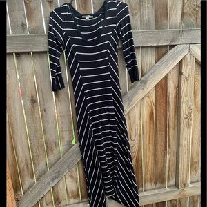 Downeast maxi asymmetrical dress half sleeve sz S